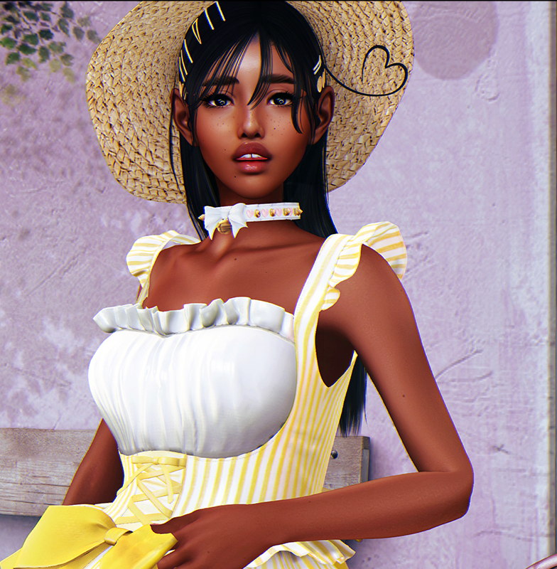 with a sunhat crop